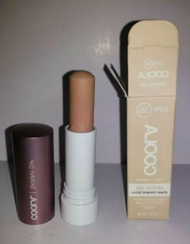 Coola Sheer Mineral Liplux SPF 30 Tinted Lip Balm Skinny Dip