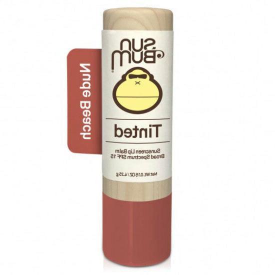 spf 15 tinted lip balm nude beach