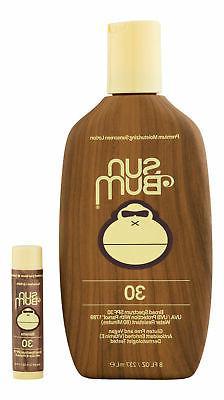 Sun Bum SPF 30 Sunscreen Lotion 8 oz & SPF 30 Lip Balm Banan