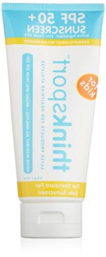 Thinksport SPF 50+ Safe Sunscreen Cream for Kids, 6 Ounce