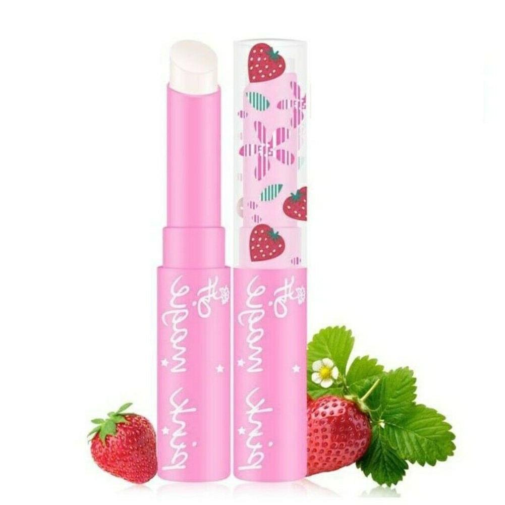 strawberry lip balm temperature color changing lipstick