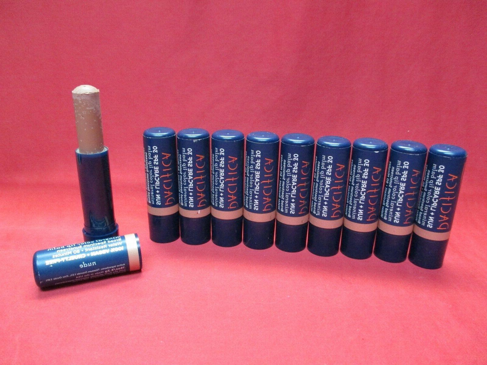 Pacifica Sun + Lipcare Mineral Color Lip Balm SPF30~Nude~LOT