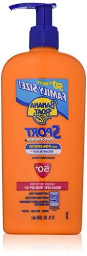 Banana Boat Sunscreen Sport Family Size Broad Spectrum Sun C