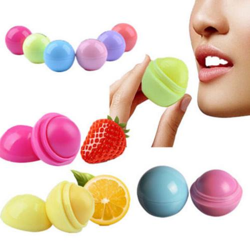 Sweet Girls Lip Balm Care Fruit Flavor Cream Ball Box Lipsti