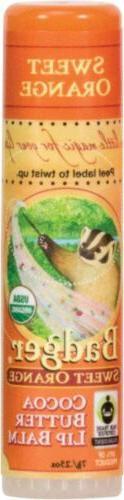 Badger Sweet Orange Cocoa Butter Lip Balm - .25oz Stick