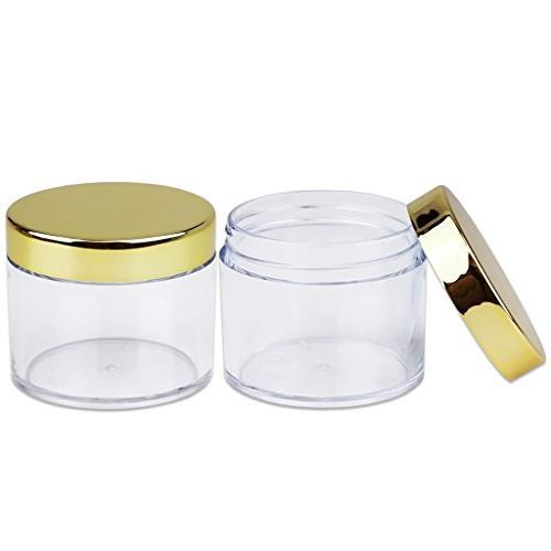 Beauticom 2 oz./ Grams/ Wall Clear GOLD Lip Lip Gloss, Creams, Liquids