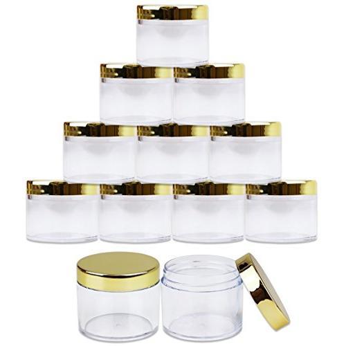 Beauticom 2 oz./ Grams/ ML Wall Plastic LEAK-PROOF GOLD Lip Creams, Liquids