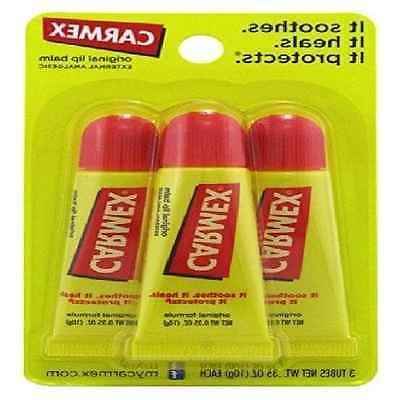 Top Quality Carmex Original Moisturizing Lip Balm 3ct ORIGIN