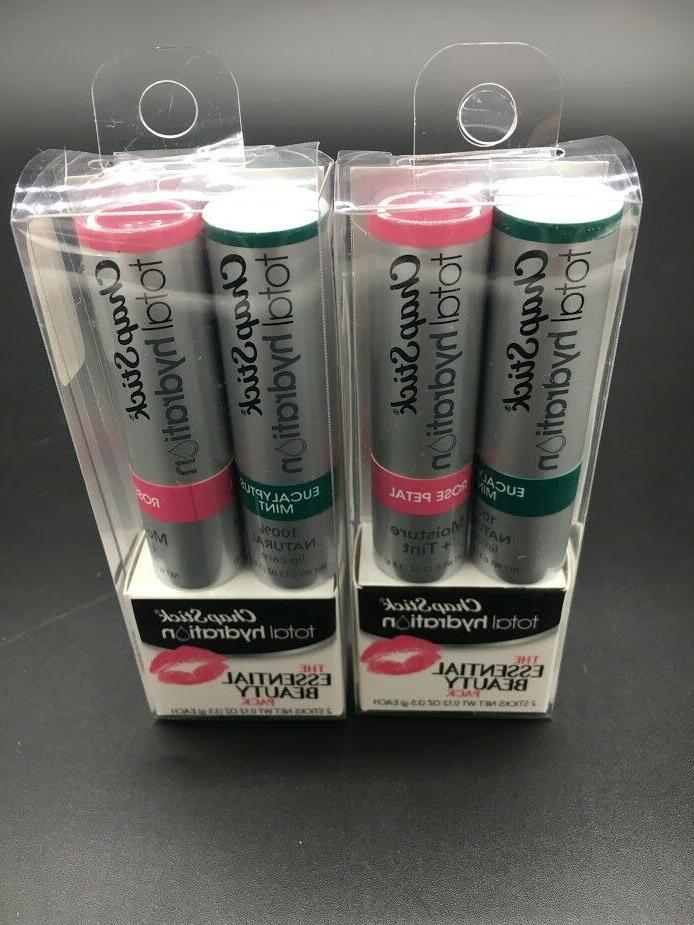 Chapstick Total Hydration Essential Beauty Pack Lot of 4 NEW