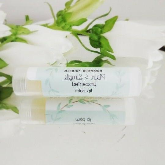 Handmade Unscented Lip Fragrance Free, Essential Free, .15