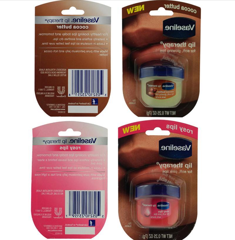 4Pcs Vaseline Lip Rosy 100% 0.25oz