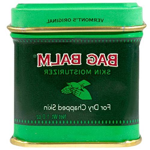 Vermont's Bag Cracked, Dry Skin, Hands Moisturizing 8 Ounce 1 Tin, Moisturizing Lip Balm