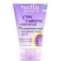 Alba Botanica Soothing Sunscreen, Pure Lavender SPF 45, 4 Ou