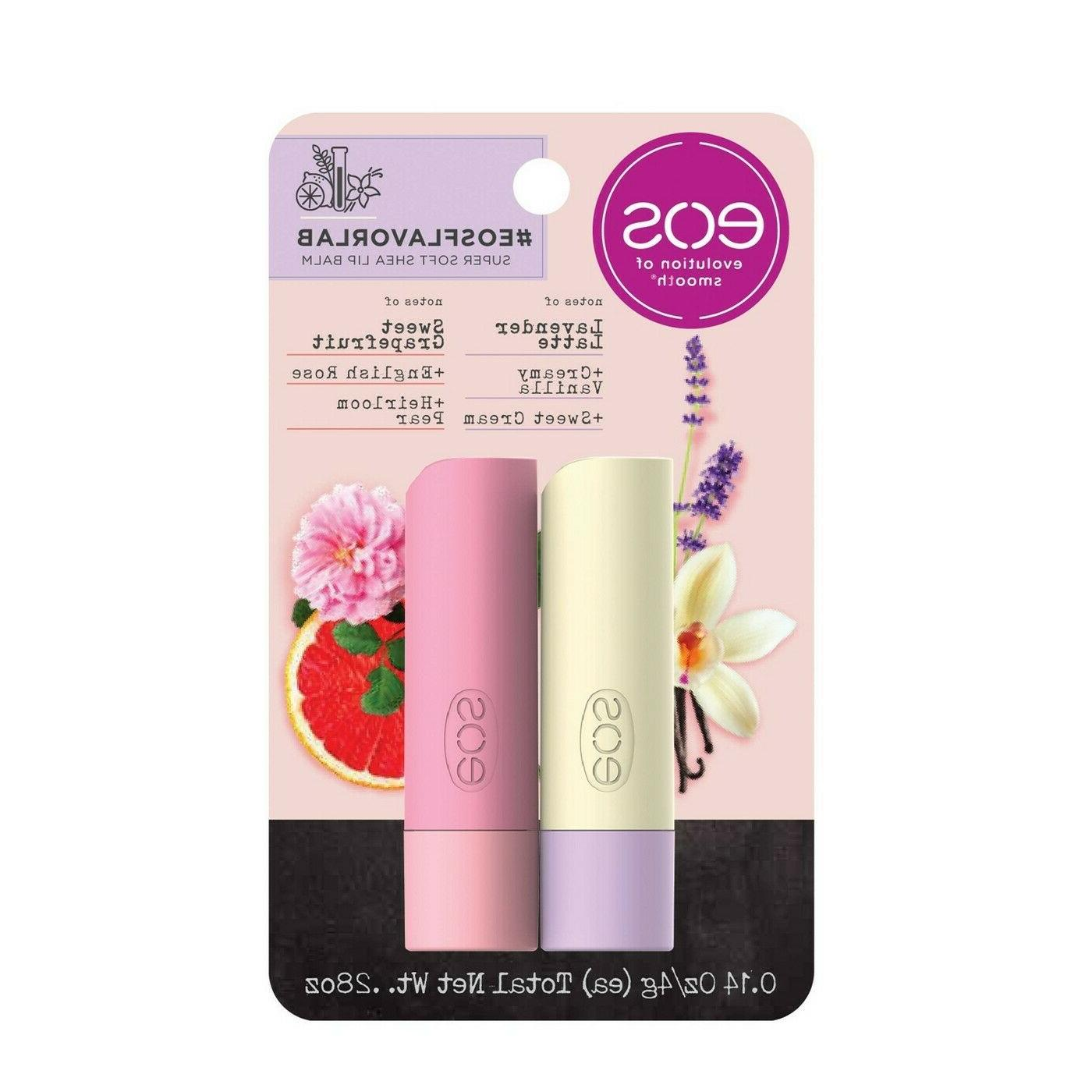 x2 lip balm sticks lavender latte vanilla