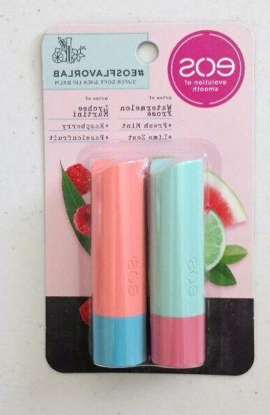 x2 lip balm sticks watermelon fresh mint