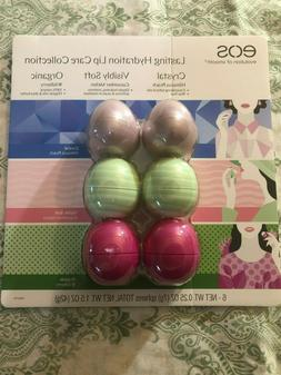 EOS Lasting Hydration Lip Balm Collection 6 Pack + Free USA