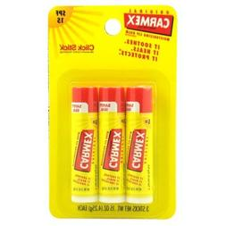 Carmex Lip Balm, Moisturizing, Original, 3 Ct.
