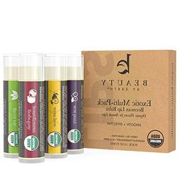 Lip Balm, USDA Organic, Exotic Flavors , Natural Beeswax, Li