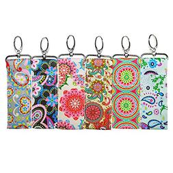 Lip Balm/Chapstick Holder with Clip - Pack of 6 Fun Vibrant