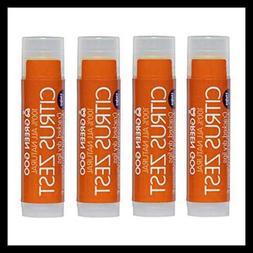 Green Goo Lip Balm Citrus Zest 4 PC 0.1 LB Pack Health Perso