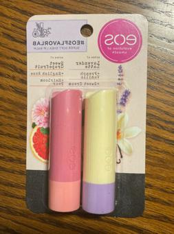 eos Lip Balm Flavor Lab Lavender Latte Grapefruit Soft Shea
