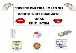 LIP BALM LABEL PRINTING SERVICE. SIMPLE DESIGNS. WE DESIGN T