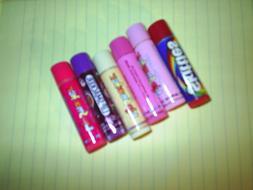 Lip Smacker Lip Balm Lot of 6 NEW Vanilla Skittles Bubble Gu
