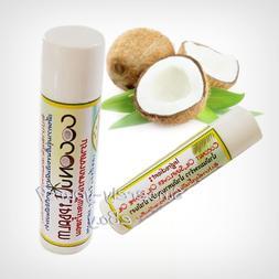 Lip Balm Natural Lipstick Coconut Oil Extra Virgin Cold Pres