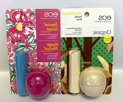 EOS Lip Balm Sets - Organic Vanilla Bean & Tropical Escape D