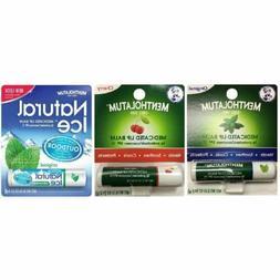 Mentholatum Lip Balm SPF 15, Original/Cherry/NaturaI Ice