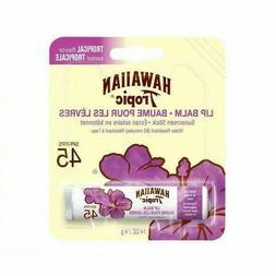 Hawaiian Tropic Lip Balm SPF 45 Tropical Flavor New Damaged