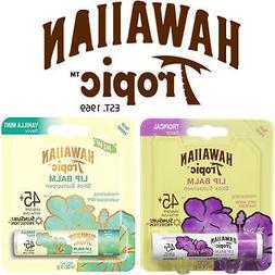 Hawaiian Tropic Lip Balm Stick Sunscreen SPF 45+ - 0.14 OZ.