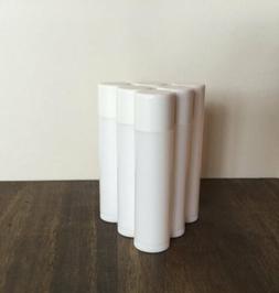 LIP BALM Tubes BPA Free 100 White Plastic Containers w/Caps