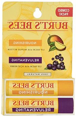 Burt's Bees Lip Balm Twin Pack Mango Butter Acai Berry - 0.3