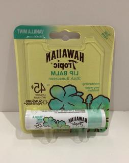 Hawaiian Tropic Lip Balm Vanilla Mint .14 oz. -- New/Sealed