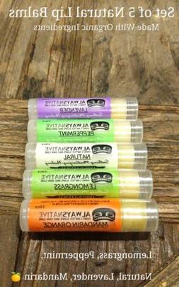 Chapstick Lip Balms, Peppermint, Lavender, Lemongrass,  0.15