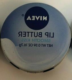 Nivea SMOOTH KISS Lip Butter Lip Gloss Tin New & Sealed 0.59