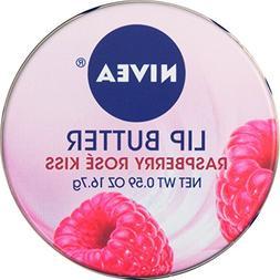 NIVEA Lip Butter Loose Tin, Raspberry Rose Kiss, 0.59 Ounce
