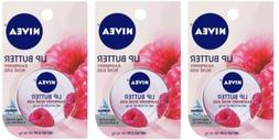 NIVEA Lip Butter Raspberry Rose Kiss Pack 3 Lot 16.7 kg Each