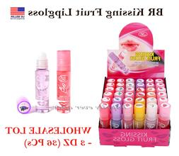 BR Lip Glow Kissing Fruit Gloss Set - WHOLESALE LOT 3 dz  PR