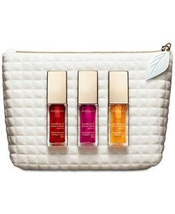 Clarins Lip Oil Trio Set: 01 Honey, 02 Rasperry, 03 Cherry