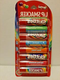 Skittles Lip Smacker 8 Pack Flavored Lip Balm Strawberry Gre