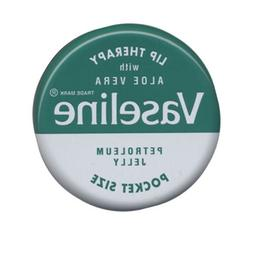 Vaseline Lip Therapy with Aloe Vera, Petroleum Jelly, Pocket