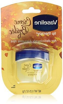 Vaseline Lip Therapy Lip Balm, Creme Brulee 0.25 oz