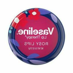 VASELINE Lip Therapy ROSY LIPS Balm Spring FLOWERS TIN Purpl