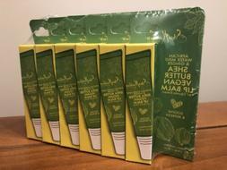 Lot 6 Tubes Shea Moisture Butter Vegan Lip Balm African Wate