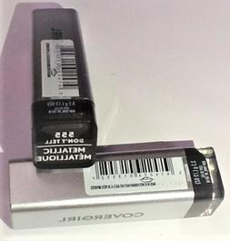 LOT OF 2  CoverGirl Exhibitionist Metallic Lipstick #555 DON