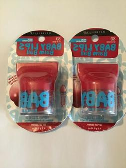 Lot of 2 New Maybelline Baby Lips Balm Ball Bit of Berry 80