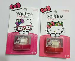 Lot of 3 Softlips Hello Kitty strawberry & pom berry lip bal