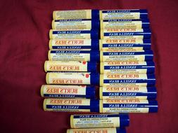 Lot of 20  Burt's Bees 100% Natural Moisturizing Lip Balm Va